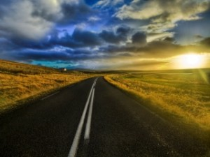 Country-Road-Sunset
